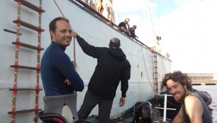 David Abecasis a bordo do Santa Maria Manuela